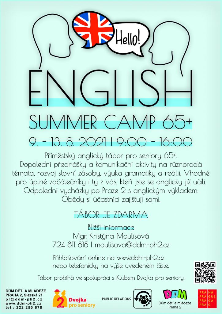 English summer camp 65+